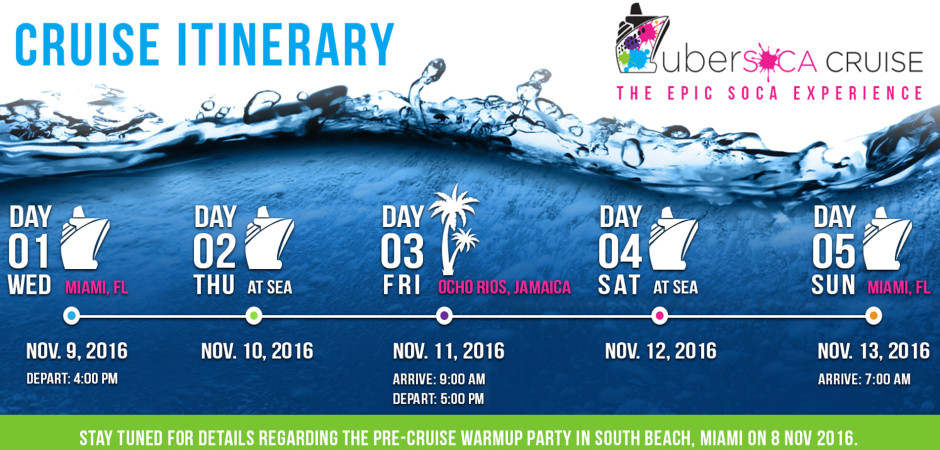 Ubersoca Cruise 2016 – Miami to Ocho Rios, Jamaica
